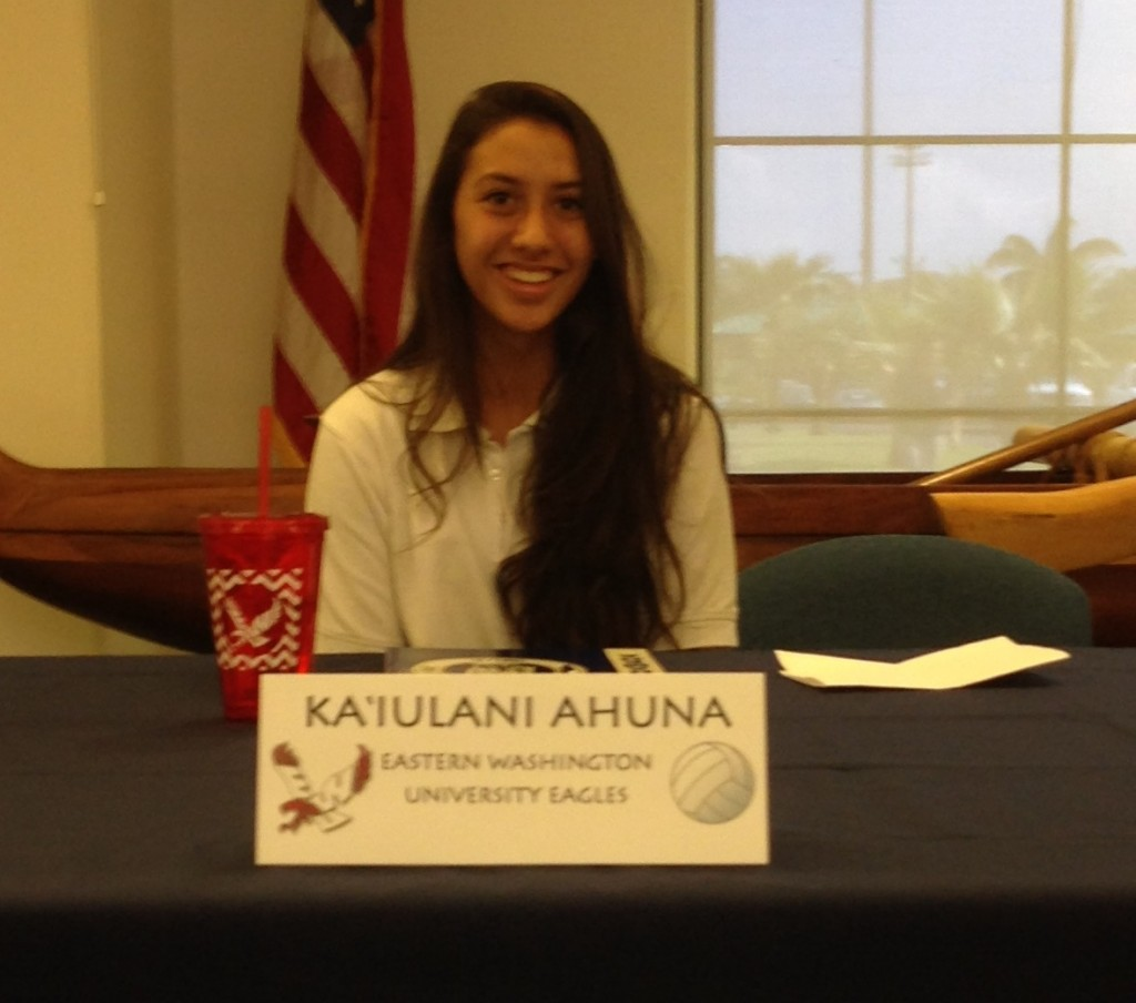 Ahuna signs with Eastern Washington University